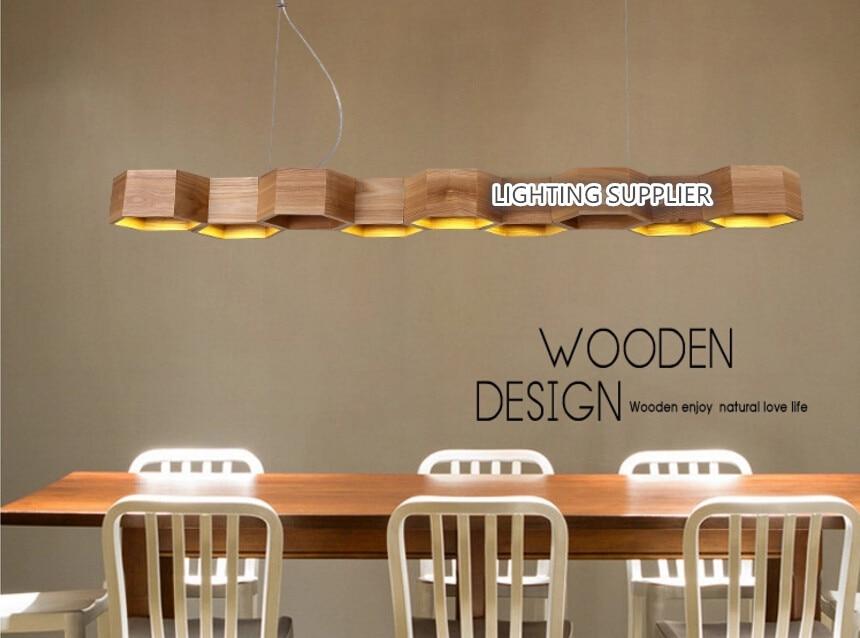 Moderne home houten honingraat hanglamp woonkamer decoratie lamp