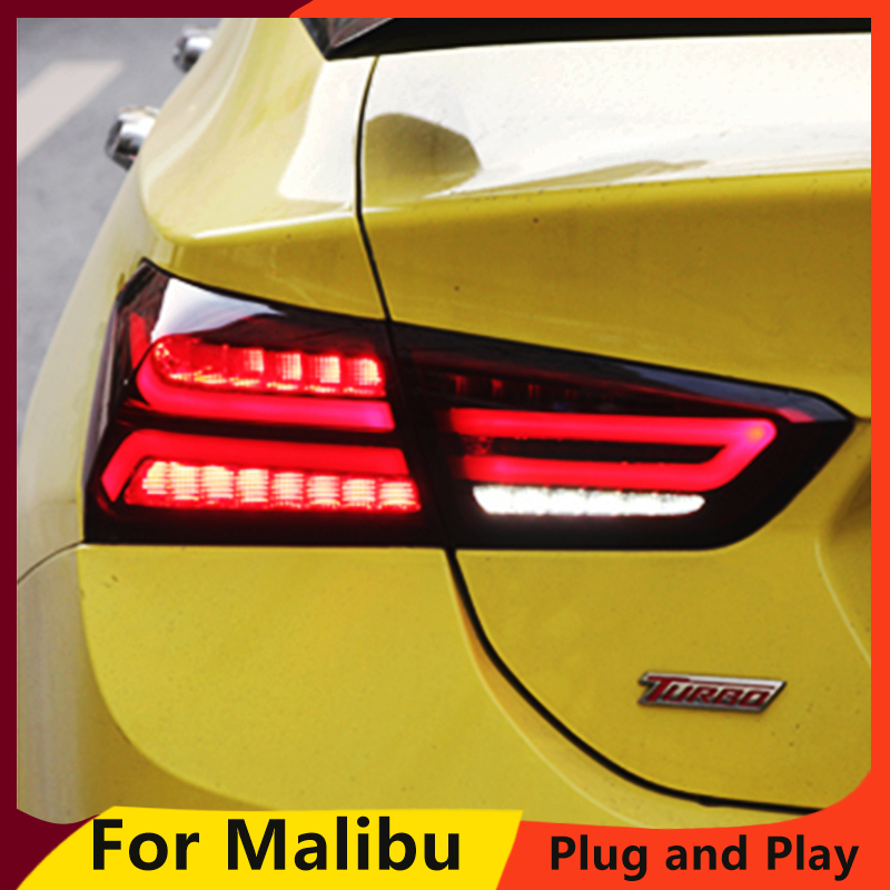 KOWELL Car Styling For Chevrolet NEW Malibu 2017 taillights LED rear lamp drl signal brake reverse