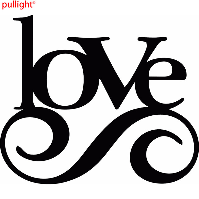 Love Quote Vinyl Art Love Word Wall Sticker Car Truck Logo In Car