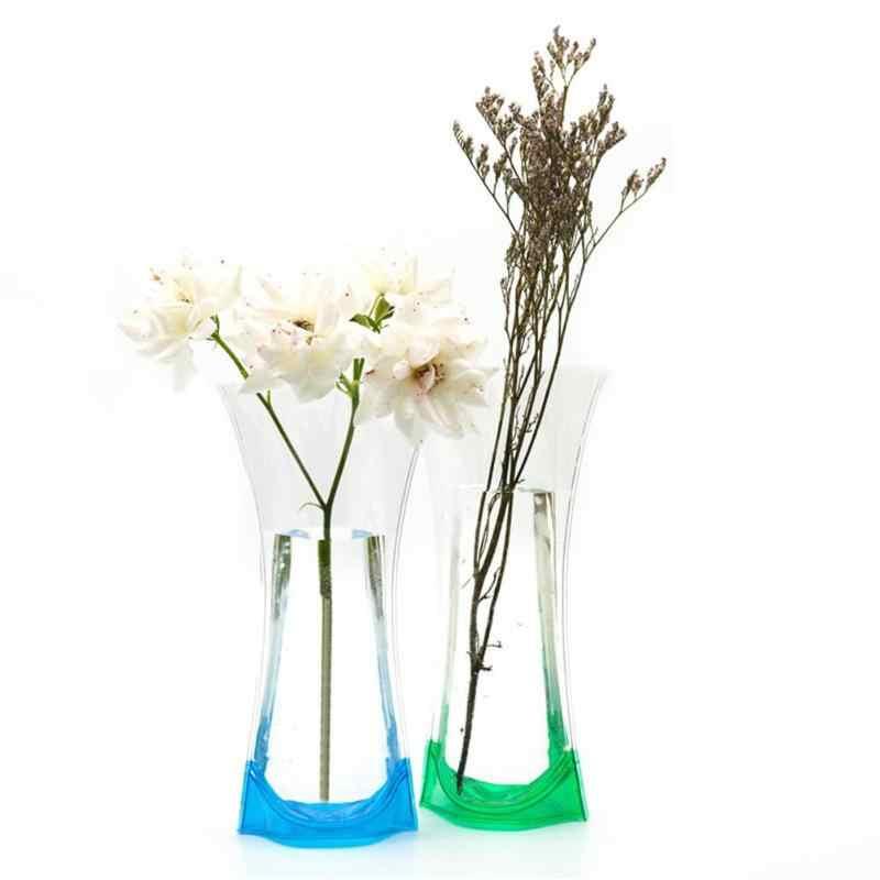 1 florero de plástico de Origami, maceta de cerámica de imitación blanca para flores, florero de decoración para casa, decoración Nórdica