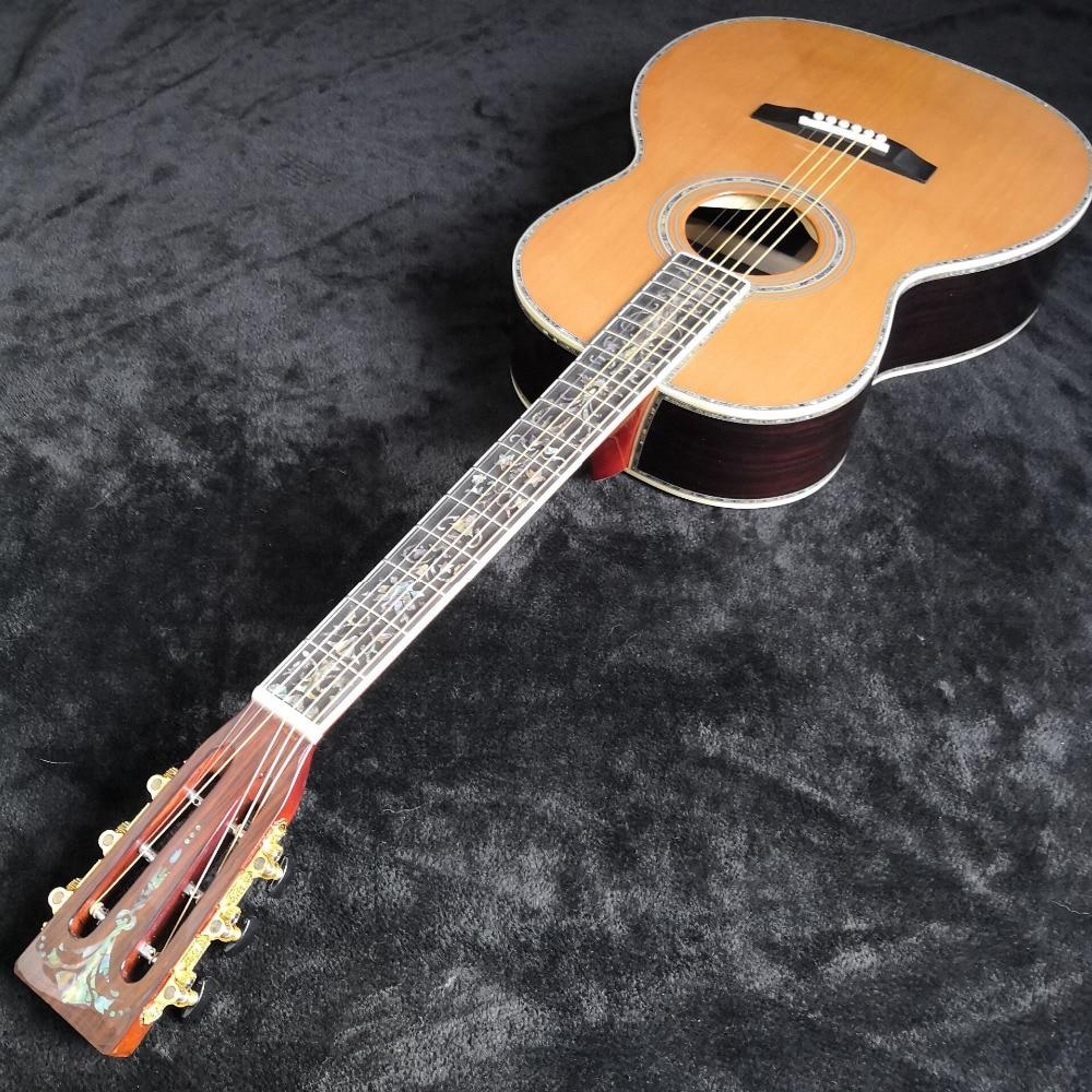 Guitare acoustique abalone avec Super luxe guitare de chine livraison gratuite