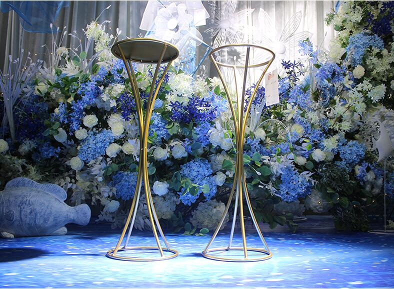 New wedding props, iron art, main table, flower rack, decoration, t-pavement lead pendulum