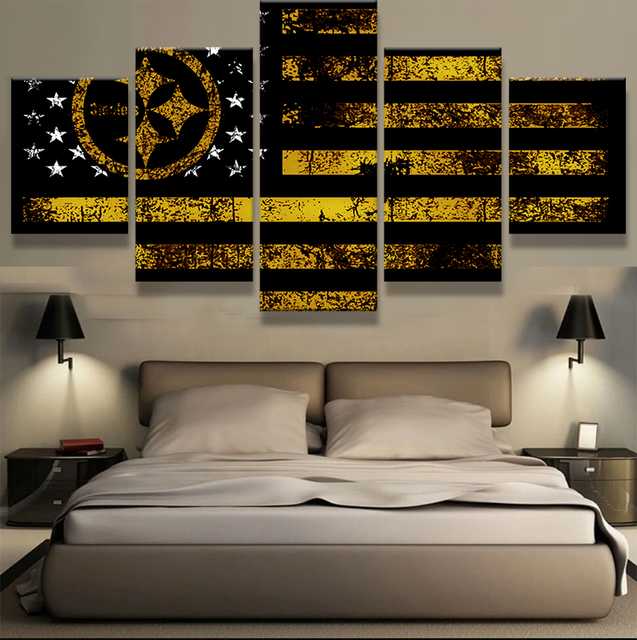 5 Panel de Pittsburgh Steelers Spor Bandera Logo Casa Moderna ...