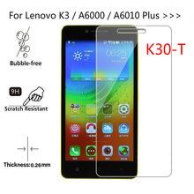 Tempered Glass For Lenovo K3 A6000 A6010 Plus K31-t3 Screen Protect Transparent Phone Protective film For Lenovo K3 Lemon K30-T(China)