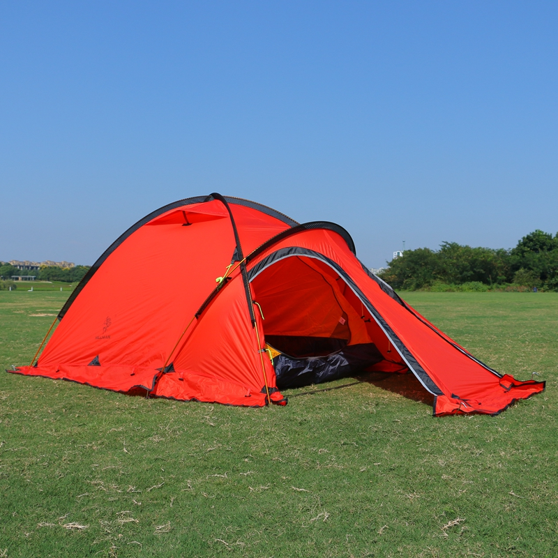 Camping Tent 2Person One Bedroom One Living Room 20D Silicone Coated Double Layers Camp Waterproof Outdoor Tent 4 Season 2Colors in one person
