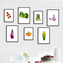 Gohipang Watercolor Fruit Vegetable Nordic Posters And Print Wall Art Canvas Painting Pictures For Living Room Kitchen