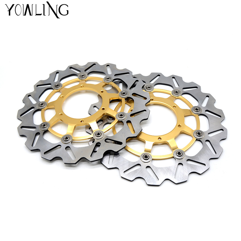 Motorcycle Front Floating Brake Disc Rotor for honda CBR600RR 2003 2004 2005 2006 2007 2008 2009 2010 2011 2012 2013 2014 swing arm pivot frame trim covers for honda vtx1300 2003 2004 2005 2006 2007 2008 2009 chrome