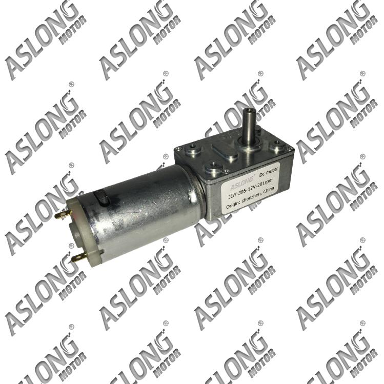 AS LONG JGY-395 DC worm gear motor Motor square gear box motors