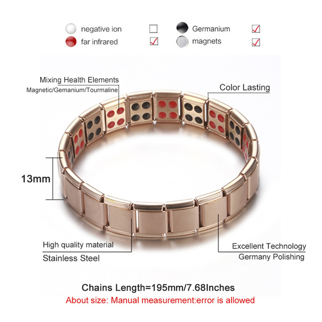 Healthy Germanium Magnetic therapy Stretch Bracelet