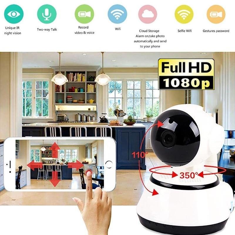 1080P WiFi Wireless Pan Tilt CCTV Network Home Security IP Camera IR Night Vision|Surveillance Cameras|   - title=