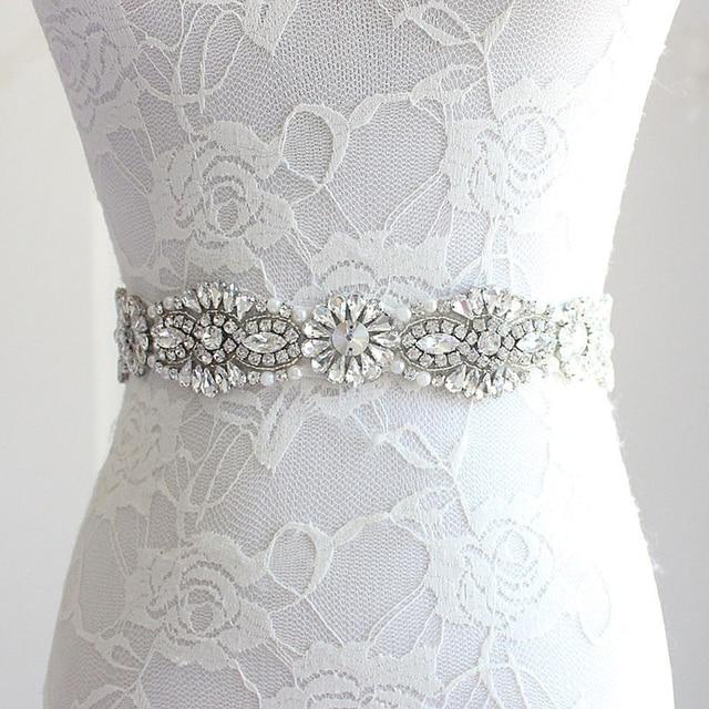 Rhinestone Moldeado Sash Nupcial Novia Boda Mujer Colores Satén Cinta del 12 Cinturones Para Cristalino De PzO6aqB7