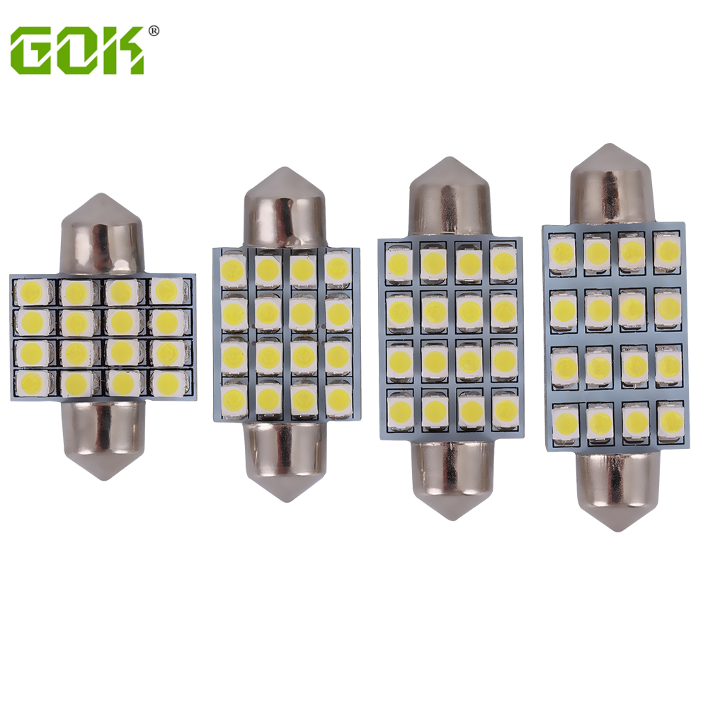 100pcs lot Led Interior Festoon led Reading Light 16SMD 3528 1210 LED Bulb Light c5w led