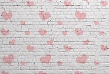 Laeacco White Brick Wall Love Heart Pattern Portrait Photography Background Customized Photographic Backdrops For Photo Studio
