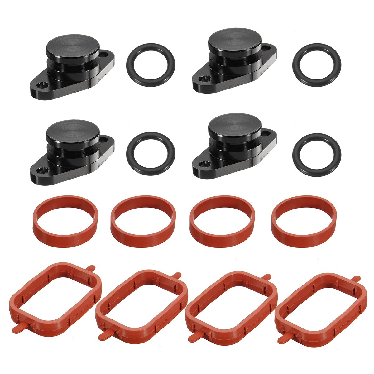 4x 22mm For BMW for Diesel Swirl Flap Blanks Repair With Intake Manifold Gaskets