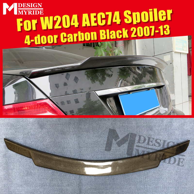 Fits For MercedesMB W204 Carbon Fiber High Kick Big Trunk Spoiler Wing C74 style C Class C180 C200 C250 wing Rear Spoiler 07 14