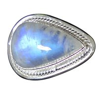 Lovegem Nature Rainbow Moonstone Ring 925 Sterling Silver,Size: 6.75 , AR2883