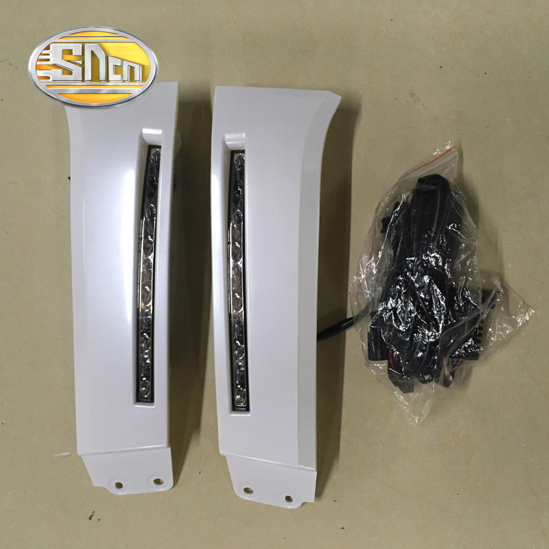 SNCN Super Brightness Waterproof Car Accessories 12V LED Daytime Running Light DRL For Toyota Tundra 2010 2011 2012 2013 2014 led car light for hyundai ix35 ix 35 2010 2011 2012 2013 car styling led drl daytime running light waterproof wire of harness