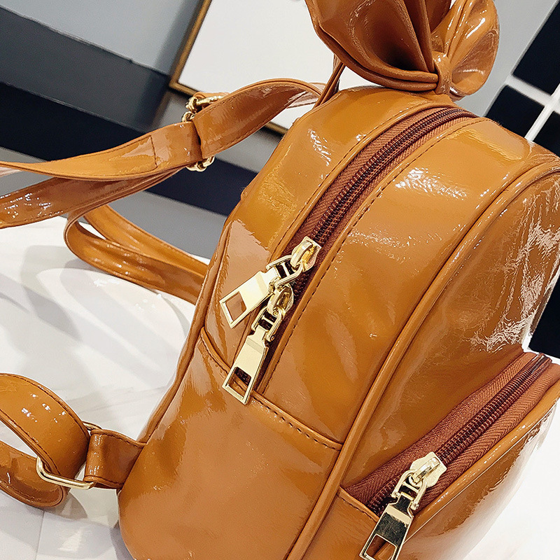 Aliexpress.com   Buy Moon Wood Hard PU Leather Mini Backpack For Girls  Small Backpack Female Big Bowknot Children Backpack Mochilas 2018 Summer  New from ... 103e8b048a