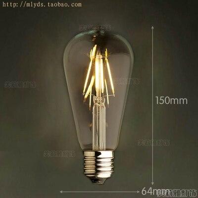 4 Вт E27 220 В светодиодный светильник для декора, лампада Эдисона, винтажный декоративный светильник с ампулами T10 G80 G95 ST64 T225 T30 - Цвет: Шоколад