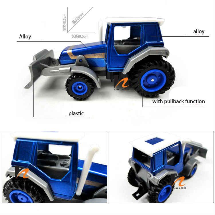 Promosi! Paduan Meluncur Petani Teknik Van Mobil Mainan Pendidikan Traktor Model Skala Mainan Anak-anak