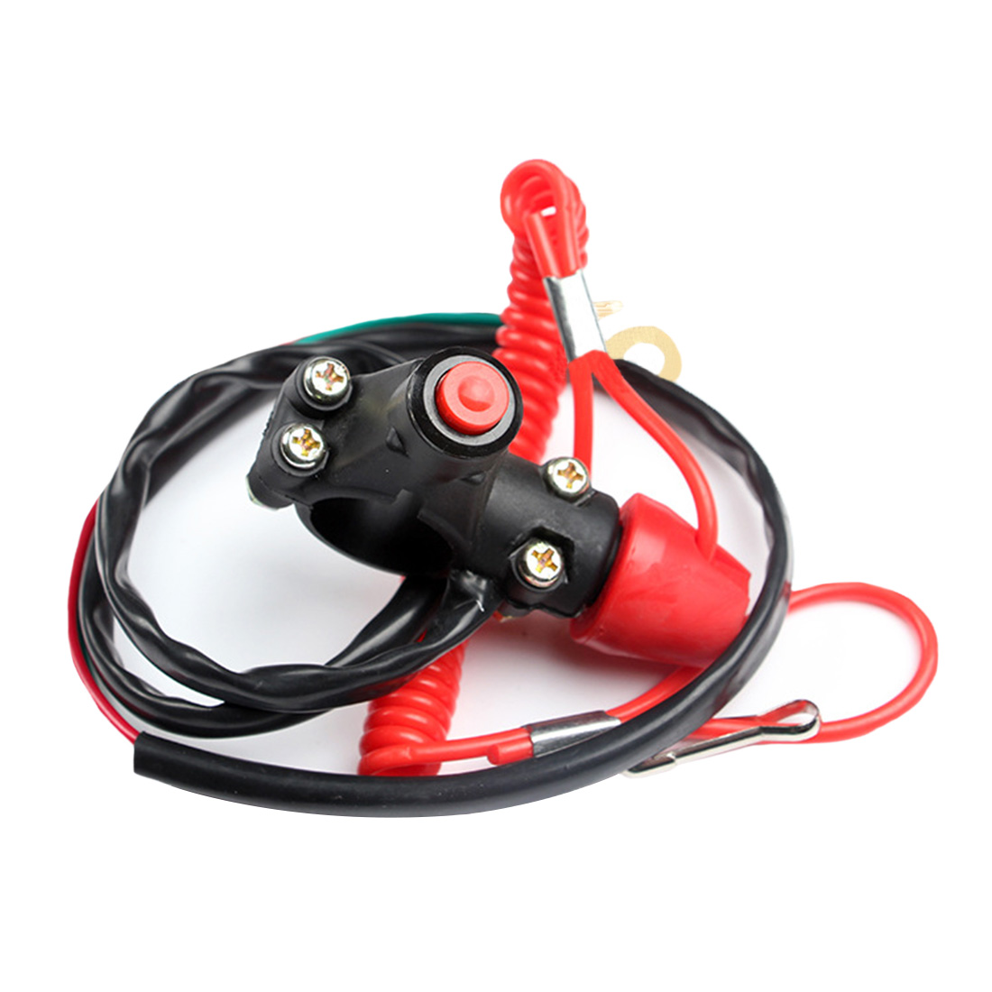 On Off Start Kill Switch Motorcycle Universal Outboard ATV Stop Motor Safety Lanyard Emergency