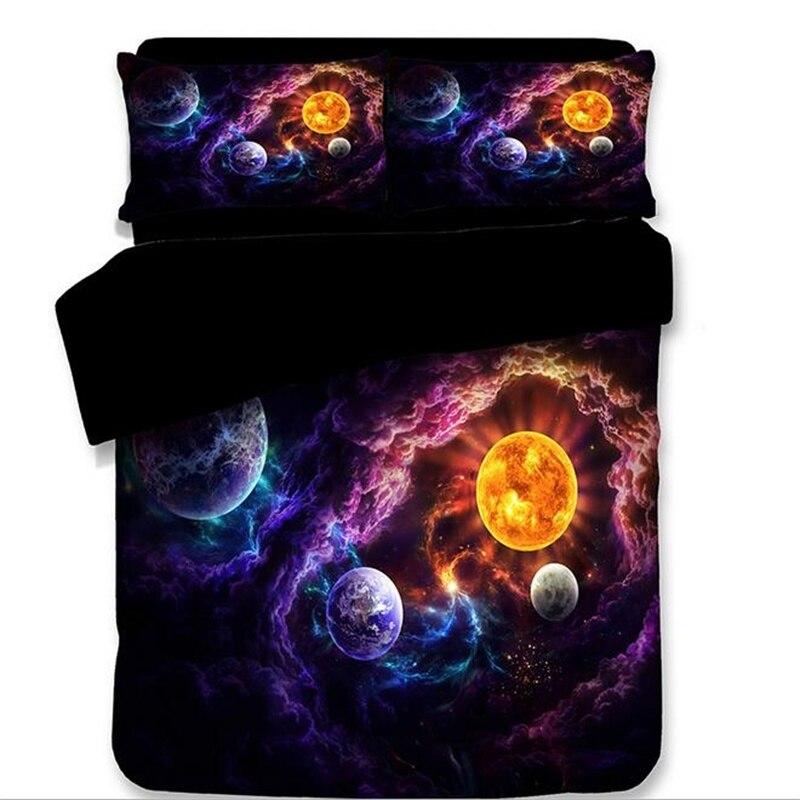 Nasas пространство вселенной Galaxy планета пододеяльник 173x218 180x210 260x220 см Твин Полный queen короля Одноместный Двойной Размеры постельное белье 3 ш...