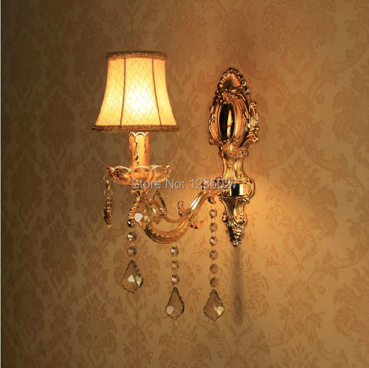 ФОТО Free shippingWall crystal Sconces/1L wall lamp/ European living room wall lamp lighting Wholesale and Retail