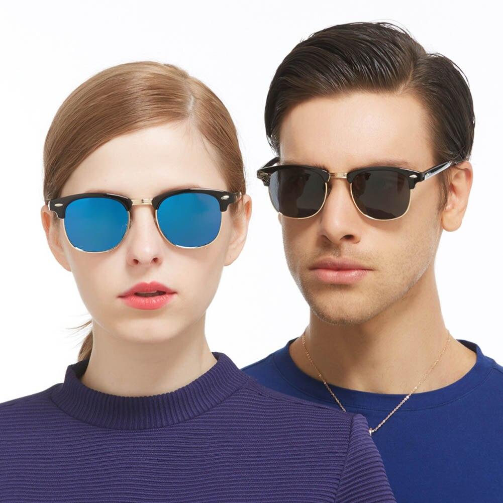 5702dfda6385 Joopin Semi Rimless Polarized Sunglasses Women Men Retro Brand Sun Glasses  Clothing