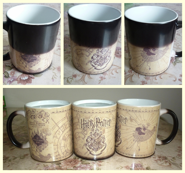 New arrive! Drop shipping! Marauders Map mug mischief managed mug Changing color Heat Reactive Coffee cup for friend Gift