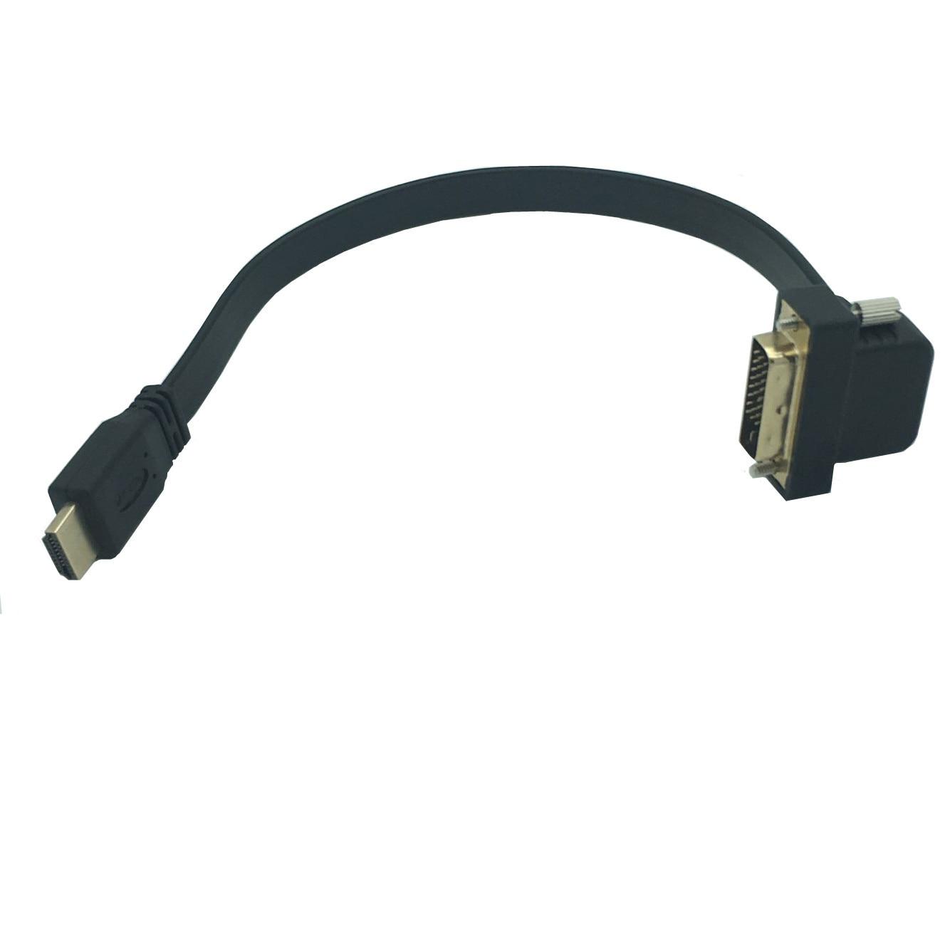 Flachen Dünnen High Speed hdmi DVI 24 + 1 Stecker 90 winkel Kabel 0 ...