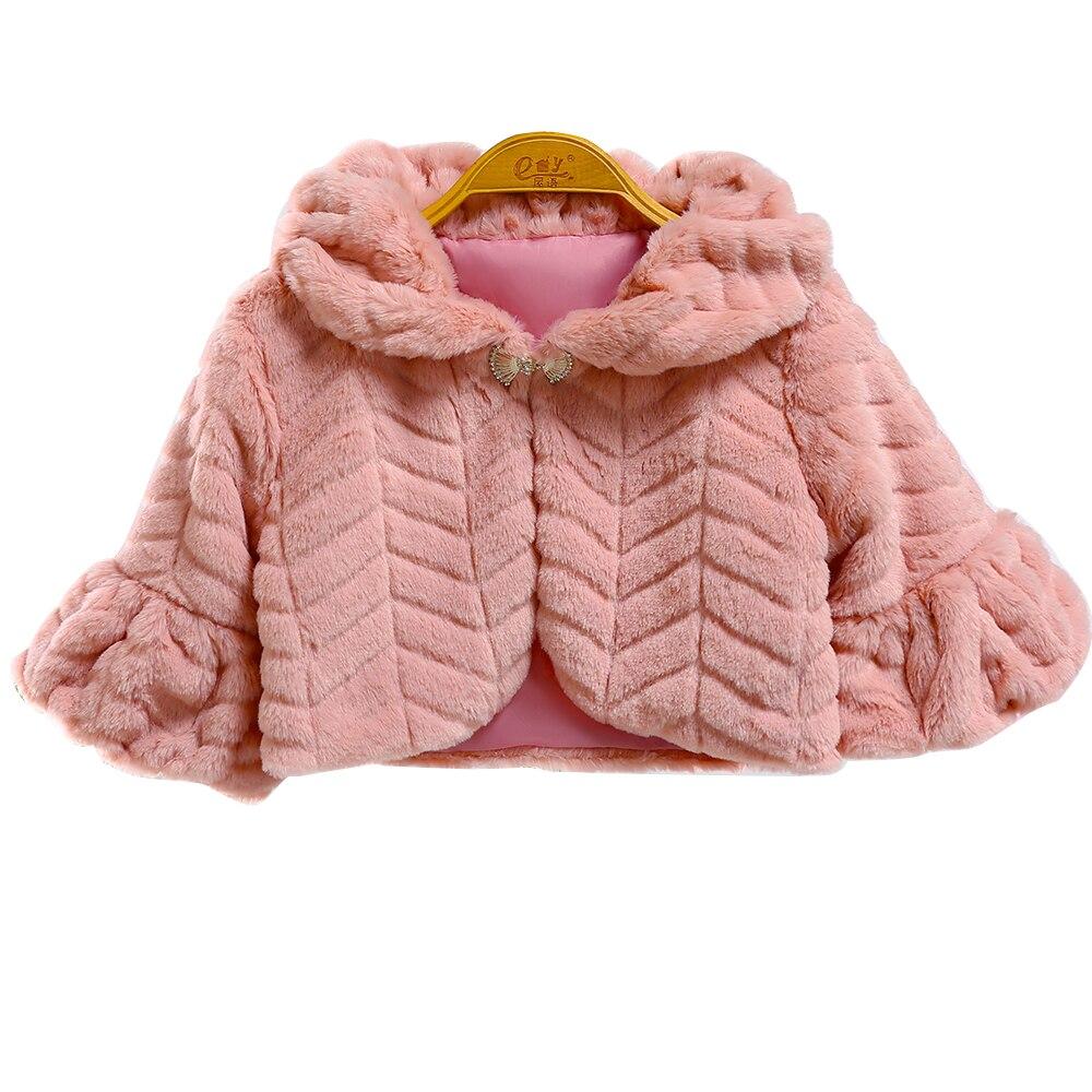 2018 inverno da pele do falso meninas jaquetas casacos de bebe roupas criancas capa casaco quente
