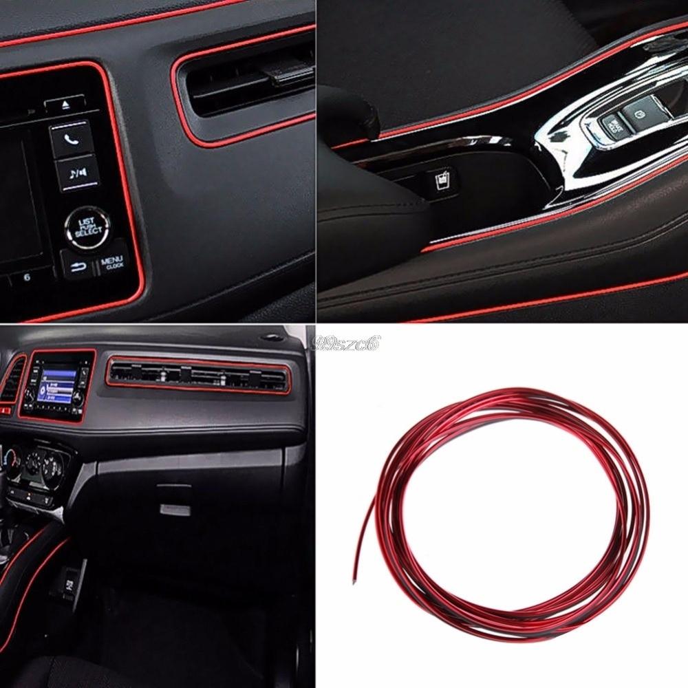 Car-Sticker Dashboard Auto-Accessories Steering-Wheel-Styling Line Interior-Decoration