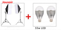 Набор софтбоксов для студии Съемная Softbox двойной свет комплект + светодио дный лампочки посылка один CD50 T06