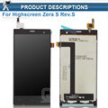 Good Quality For Highscreen Zera S rev.S LCD Display & Touch Screen Digitizer Assembly without Frame Replacement Free Shipping