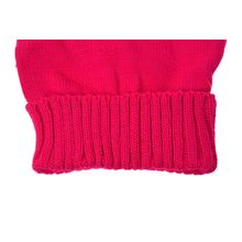 Women's Warm Winter Cat Ear Shape Knitted Hat Rose-red