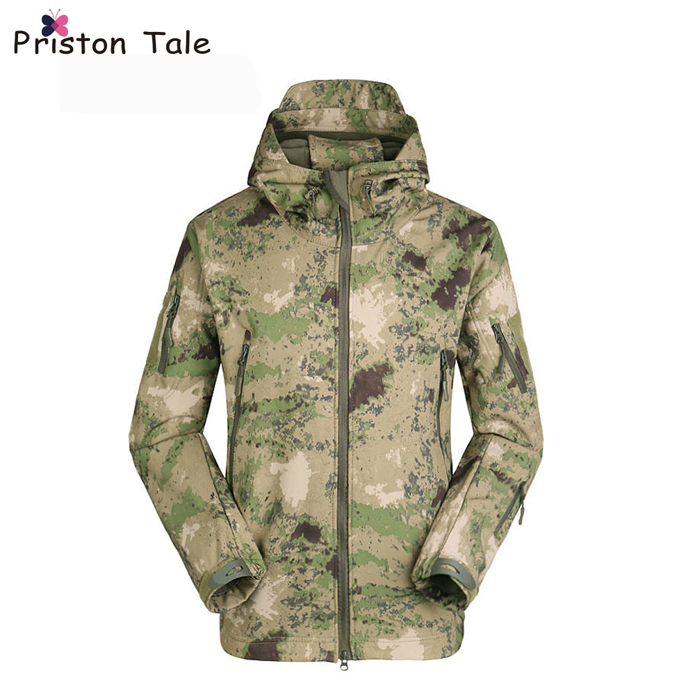 Unisex Men Windbreakers Camouflage Hunting Lurkers Jackets 2017 Outdoor Tactical Military Jacket Windbreaker Coats Uniform Suits outdoor tactical jackets men camping hunting coat waterproof windbreaker 2016 good quality coats military jacket brand clothing