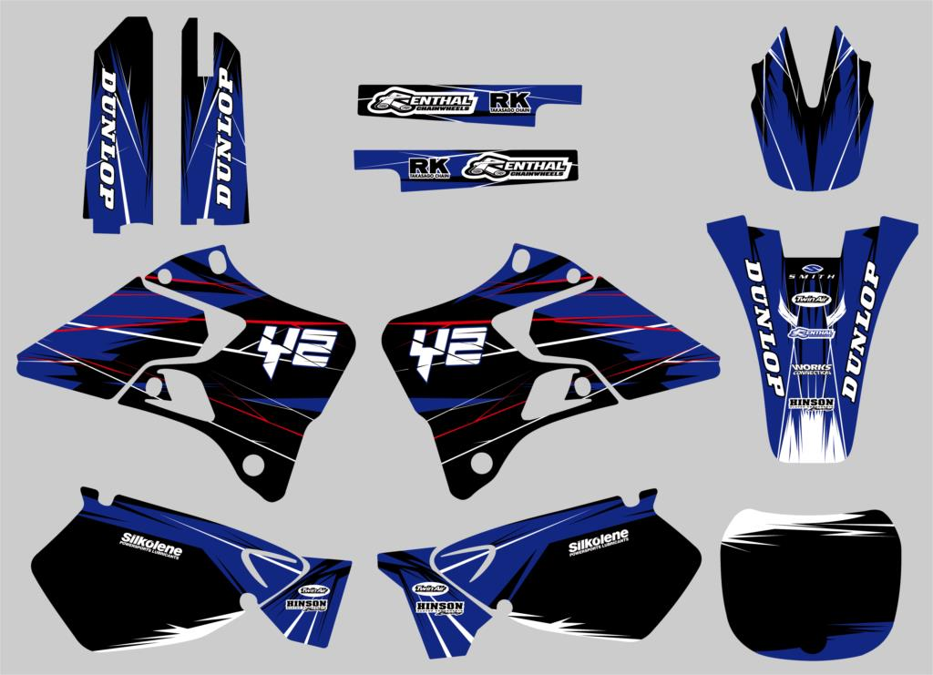 NICECNC New Style Team Graphics Backgrounds Decals Stickers Kits For Yamaha YZ125 YZ250 1996 1997 1998 1999 2000 2001 YZ 125 250 стоимость