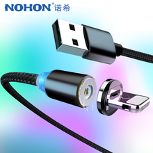 NOHON Nylon Strong Magnetic Charger Cables Micro USB Type-C 8 Pin For iPhone X 7 Plus Fast Charging Cable Samsung Xiaomi 4
