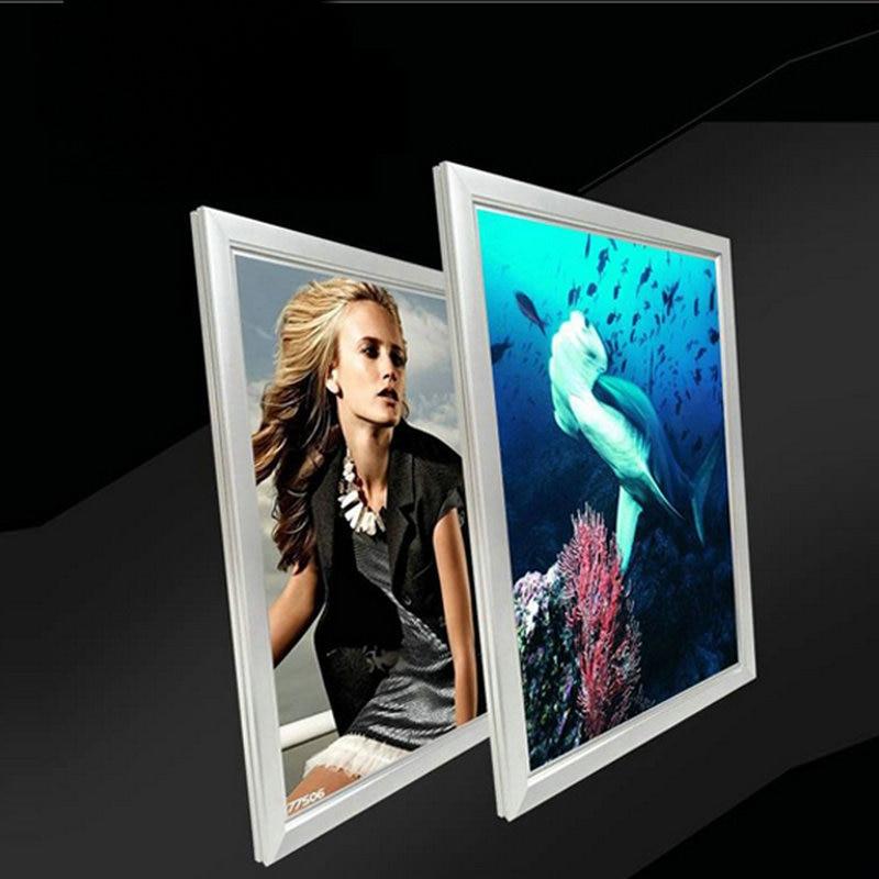 snap open frame poster board ultra slim light box for advertising