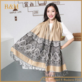 New Hot Fashion Women Lady Double Side Paisley Silk Pashmina Scarf Wrap Shawl Free Shipping