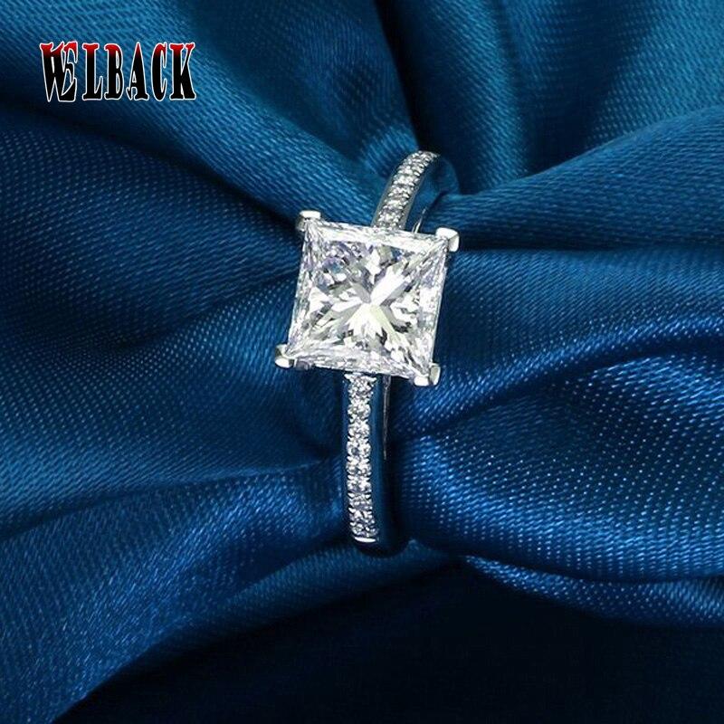 2016 Heißer Verkauf 1 Ct Cz Engagement Platz Zirkonia Ringe 4 Krallen Hochzeit Ring Braut Mode Schmuck Für Frauen Auswahlmaterialien