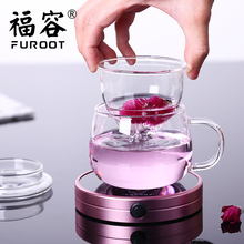 Furoot Multifunction Insulation Base Glass Warmer  Cup Milk Heater Tea Thermostat Electric Cup Mat Portable Coffee Heater 220v electric powered cup warmer heater pad hot plate coffee tea milk mug us plug white household office