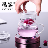 Furoot Multifunction Insulation Base Glass Warmer Cup Milk Heater Tea Thermostat Electric Cup Mat Portable Coffee Heater