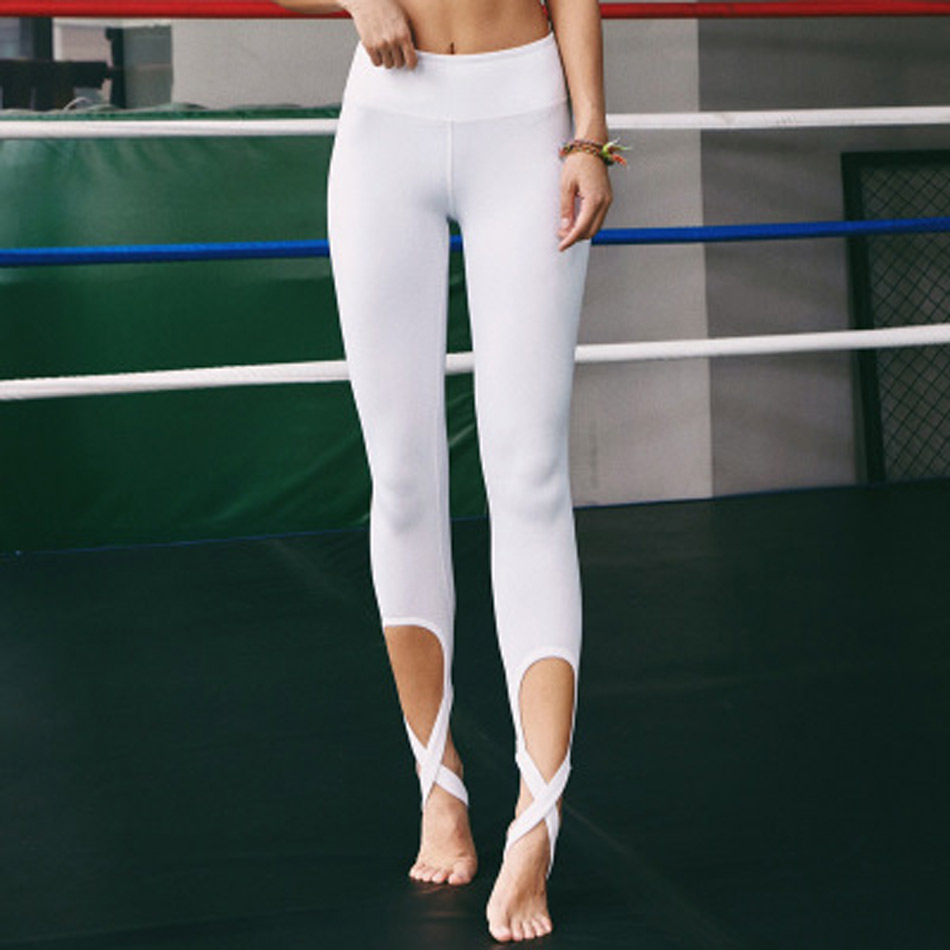 Top Cute Women Ballet Yoga Pants Fitness Cross Yoga Leggings High  SS57
