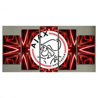 NEW 5 spell diy diamond painting AJAX badge icon living room decoration painting 3d diamond embroidery football shield pattern