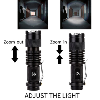 Colourful Waterproof LED Flashlight High Power Mini Spot Lamp 3 Models Zoomable Camping Equipment Torch Flash Light 3