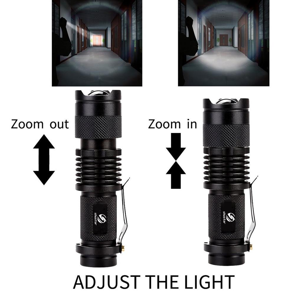 Fargerikt Vanntett LED Lommelykt High Power 2000LM Mini Spot Lamp 3 - Bærbar belysning - Bilde 3