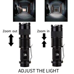 Image 3 - カラフルな防水 LED 懐中電灯ハイパワーミニスポットランプ 3 モデルズーム可能なキャンプ用品トーチフラッシュライト