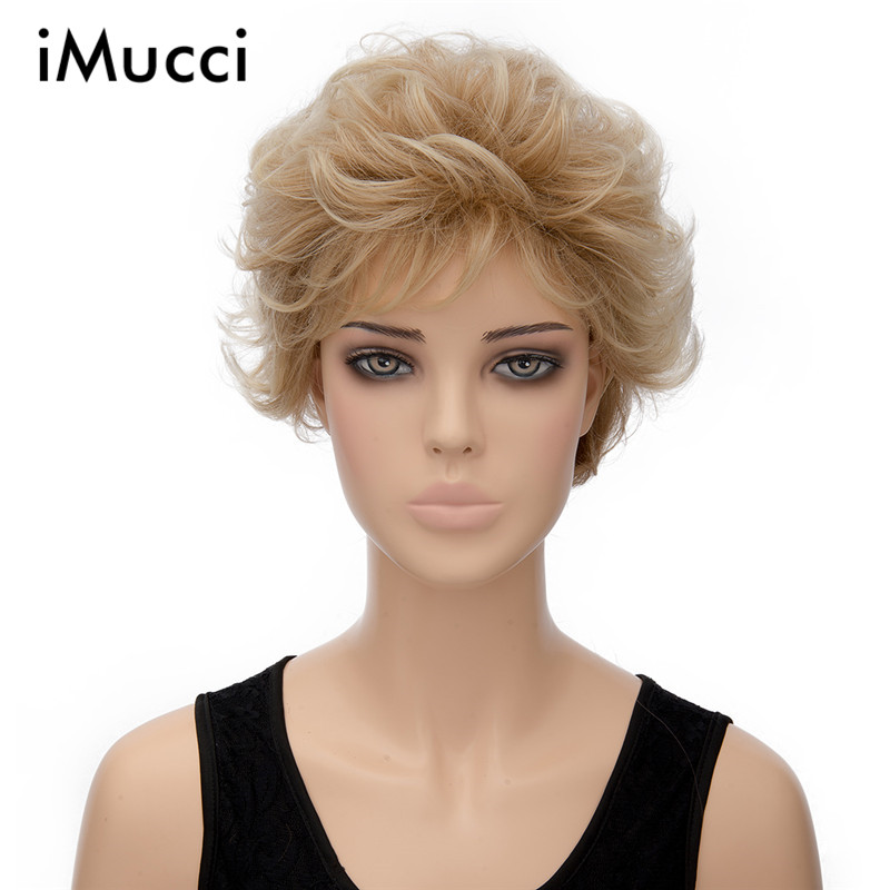 29cm Light Brown Short Curly Wigs For Women In Synthetic Europe New Style 2016 Explosion Models