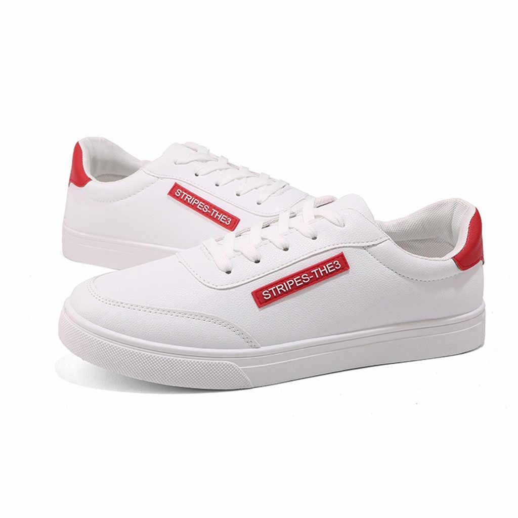Yaz ayakkabı erkekler 2019 Bahar Yeni erkek Moda Rahat Beyaz spor salonu ayakkabısı Spor Koşu Moda Sadelik Yürüyüş Spor Ayakkabı